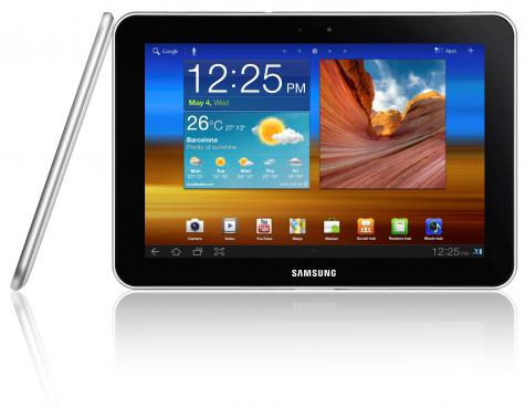 Samsung Galaxy Tab 8.9 P7310 front and side view