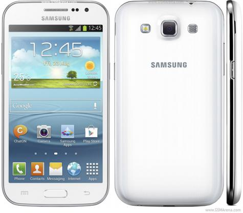 Samsung Galaxy Win I8550 front and side view