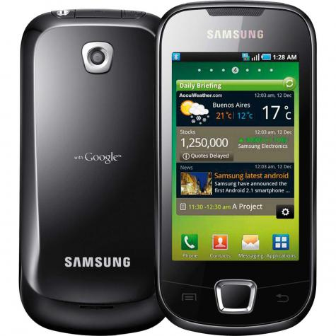 Samsung I5800 Galaxy 3 front and side view