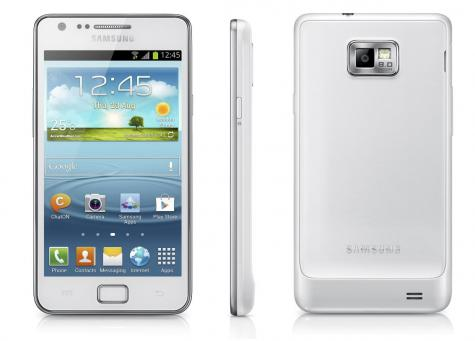 Samsung I9105 Galaxy S II Plus front and side view