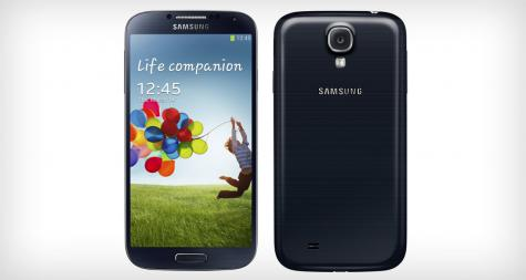 Samsung I9500 Galaxy S4 front and side view
