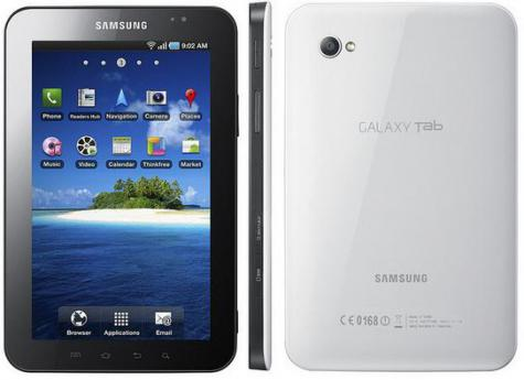 Samsung P1000 Galaxy Tab front and side view