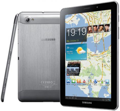 Samsung P6800 Galaxy Tab 7.7 front and side view