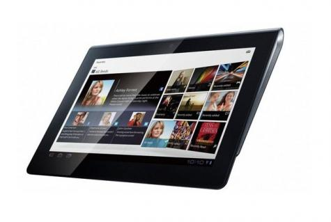 Sony Tablet S 3G front and side view