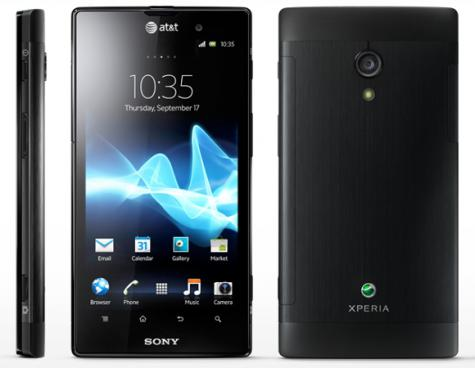 Sony Xperia ion HSPA front and side view