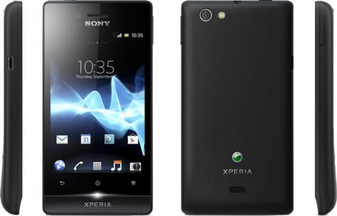 Sony Xperia miro front and side view