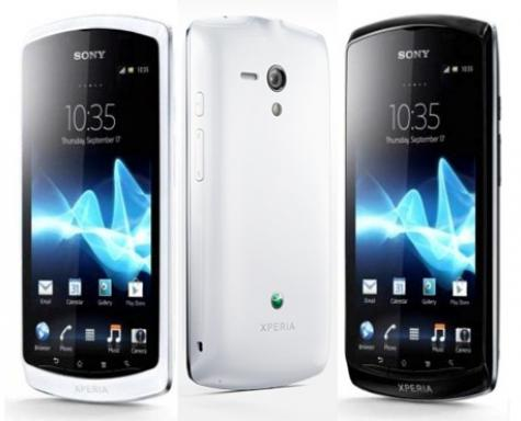 Sony Xperia neo L front and side view