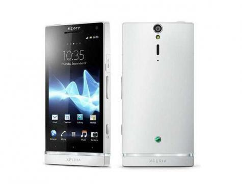 Sony Xperia S front and side view