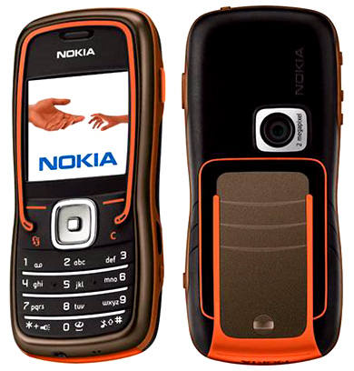 Nokia 5500 Sport front and side view