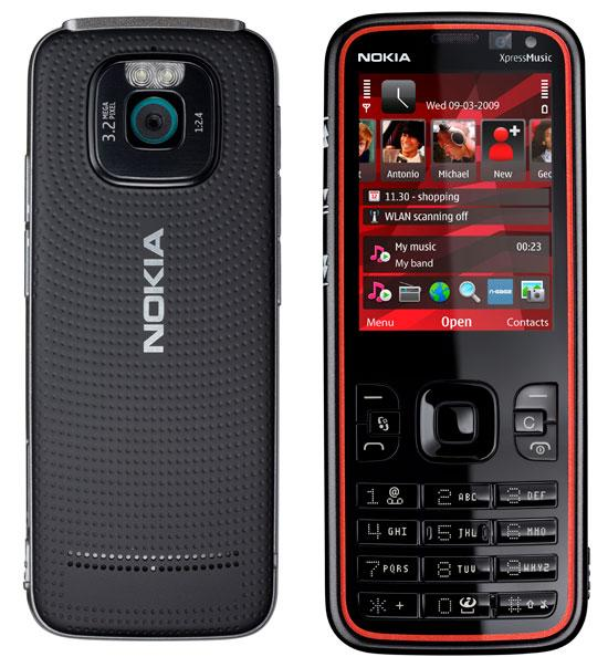 Nokia 5630 XpressMusic front and side view