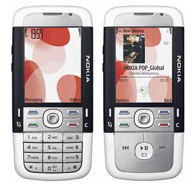 Nokia 5700 front and side view