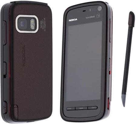 Nokia 5800 XpressMusic front and side view