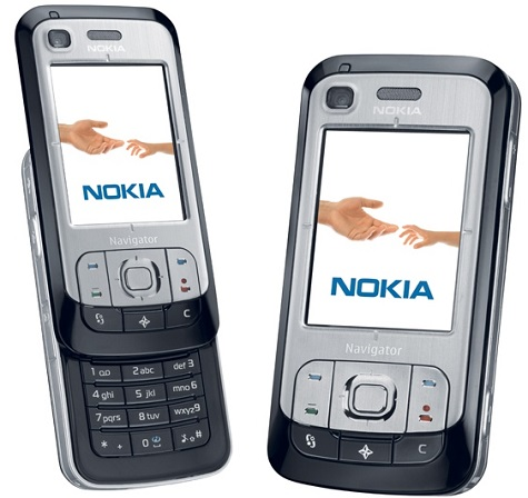 Nokia 6110 Navigator front and side view
