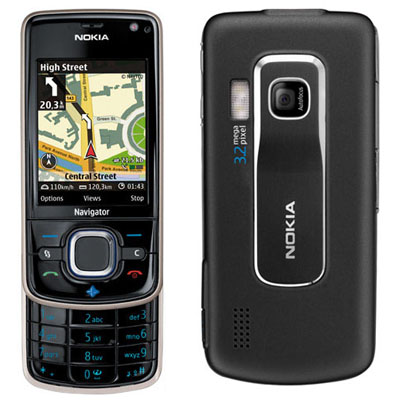 Nokia 6210 Navigator front and side view
