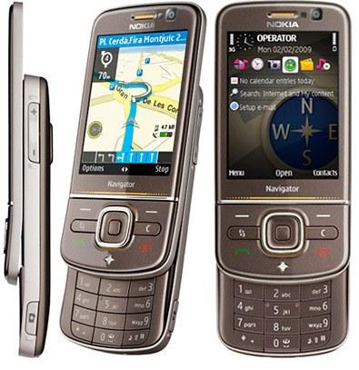 Nokia 6710 Navigator front and side view