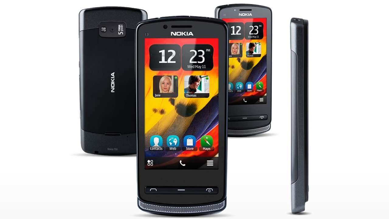 Nokia 700 front and side view