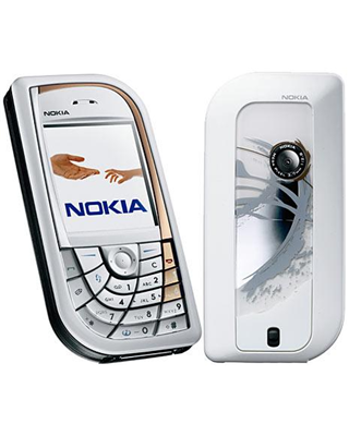 Nokia 7610 front and side view