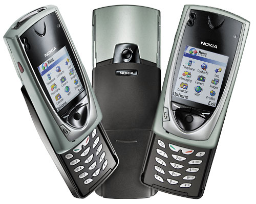 Nokia 7650 front and side view