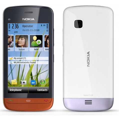 Nokia C5-06 front and side view