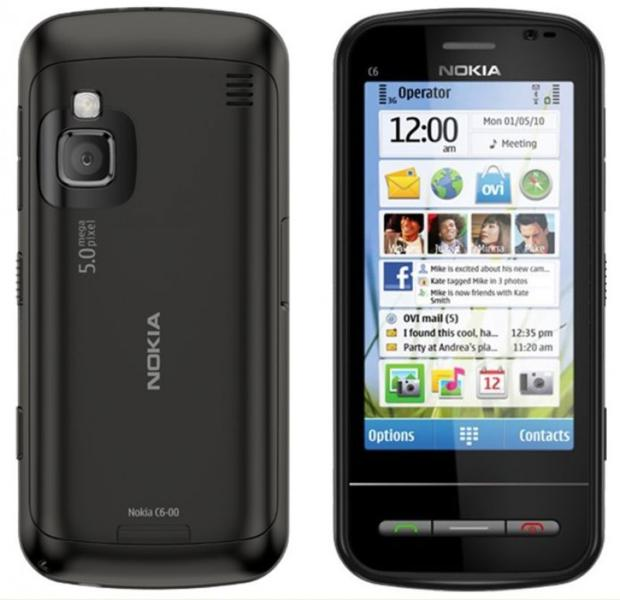Nokia C6 front and side view