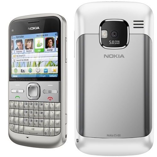 Nokia E5 front and side view