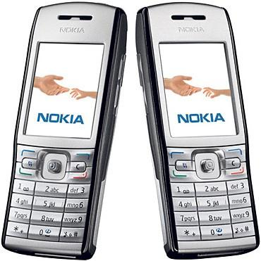 Nokia E50 front and side view