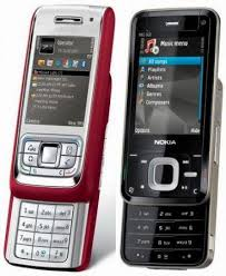 Nokia E65 front and side view