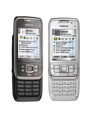 Nokia E66 front and side view