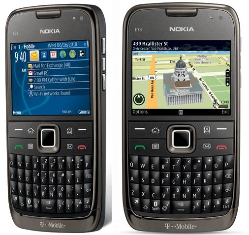 Nokia E73 Mode front and side view