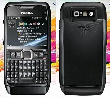 Nokia N71 front and side view