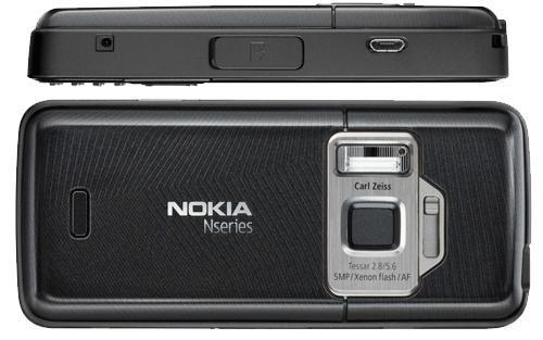 Nokia N82 front and side view