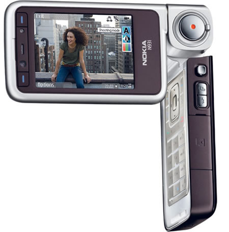 Nokia N93i front and side view