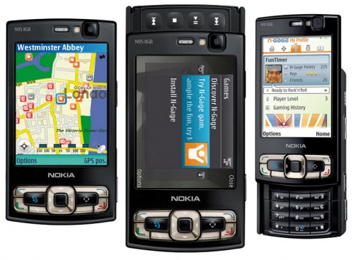 Nokia N95 front and side view