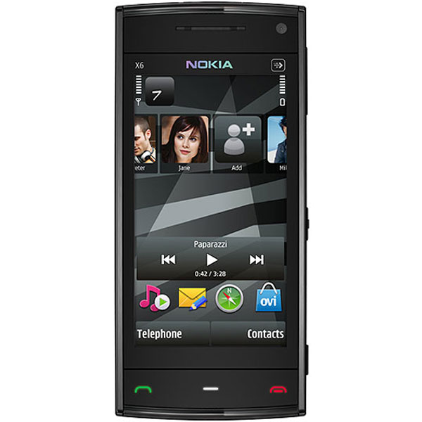 Nokia X6 16GB front and side view