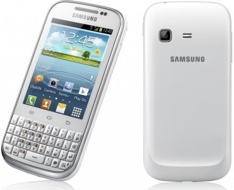 Samsung Galaxy Chat B5330 front and side view