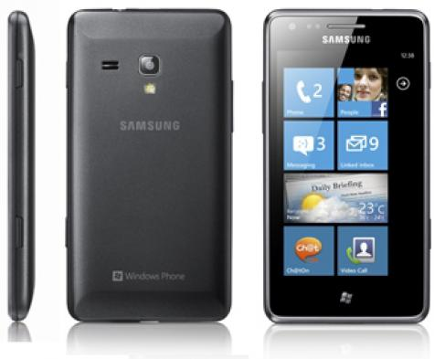 Samsung Omnia M S7530 front and side view